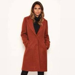 CREPÈ ITALY GIULIANA WOOL BLEND OVERSIZED COAT L